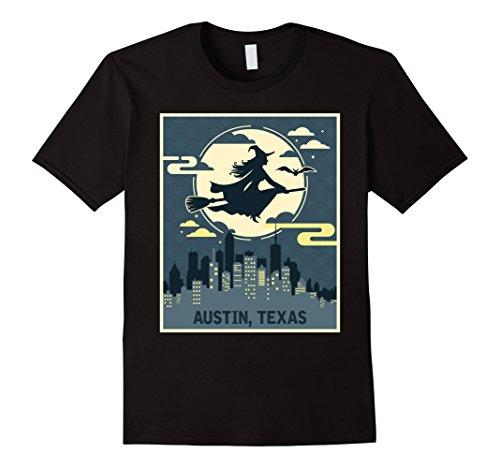 Mens Austin Texas Witch Halloween Night T-shirt 2XL (Costumes Austin Texas)