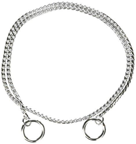 - Guardian Gear X-Fine Chrome Snake-Chain Dog Collar, 22