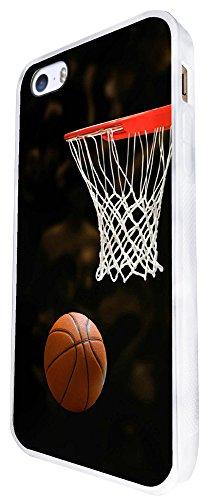 1233 - Cool Fun Trendy Basketball Sports Fun Score Design iphone SE - 2016 Coque Fashion Trend Case Coque Protection Cover plastique et métal - Blanc