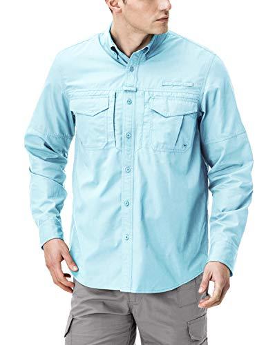 (CQR CQ-TOS421-SKB_2X-Large Men's Outdoor PFG UPF 50+ Long/Short-Sleeve Breathable Shirt)