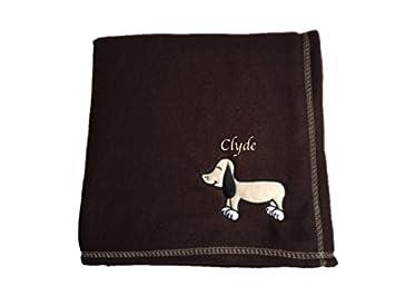 Personalizado Bordado Marrón Oscuro manta de mascotas con diseño de perro: Amazon.es: Productos para mascotas
