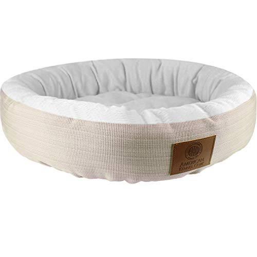 American Kennel Club AKC 3158- Beige AKC Casablanca Round Solid Pet Bed, Beige