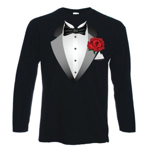 1d3b4cb09 Tribal T-Shirts Mens Tuxedo Fancy Dress Long Sleeve T-Shirt: Amazon.co.uk:  Clothing