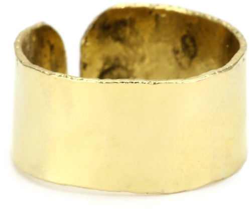 Citrine by the Stones Hammered Adjustable Finger Band s