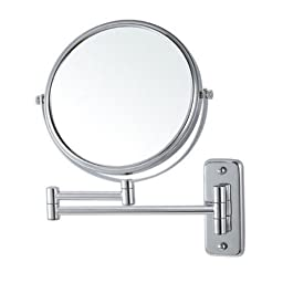 Glimmer Nameeks AR7719-SNI-3x Wall Mounted Makeup Mirror, 5\