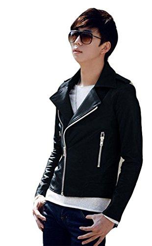 Men's Slim Fit Faux Leather Jacket (US:S / Tag L)