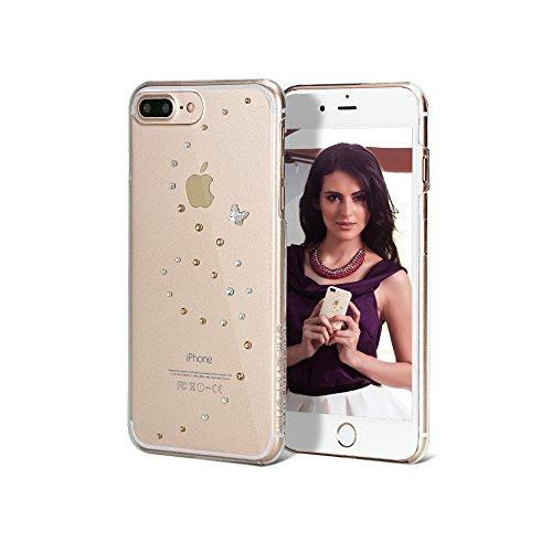 Bling My Thing ip7de l-CL en polypropylène de PKM papillon série luxe et design unique brillant avec cristaux Swarovski, d'origine pour Apple iPhone 7Plus Rose Tendance Sparkles