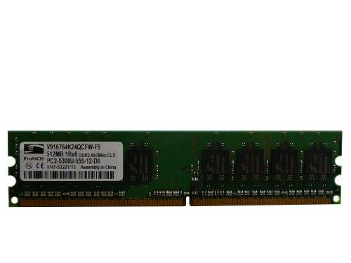 ProMOS 512MB PC2-5300U DDR2 667MHz 240-Pin CL5 Memory V916764K24QCFW-F5
