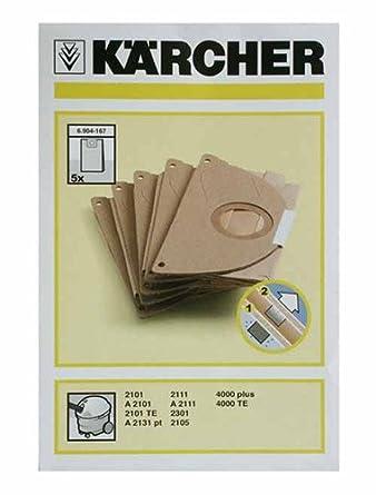 Karcher - Bolsita de bolsas de aspirador (X5) - 69041670 ...