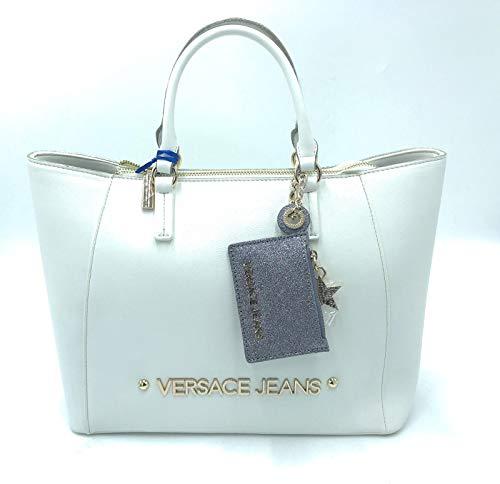 368450823 Versace Mano De Blanco Bolso Jeans rwqYr