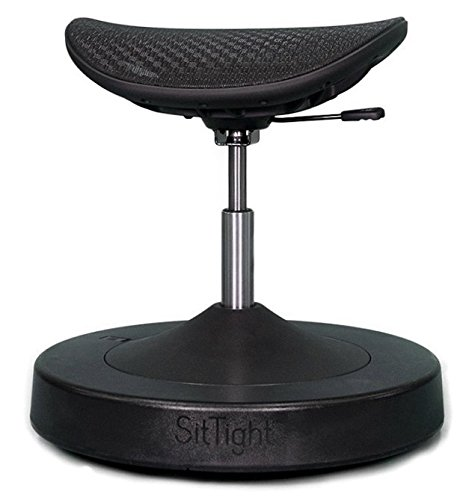 SitTight Balance Chair for Active Sitting - Best Standing Desk Chair - Increases Core Strength, Improves Posture and Burns More Calories Than a Ball Chair ()