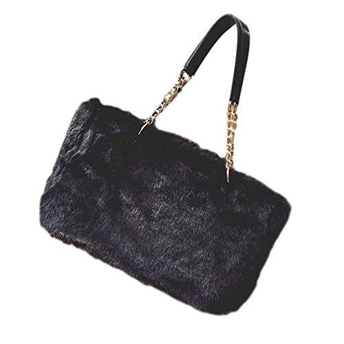 fur Bag Satchel Shoulder Handbag Synthesic Lady Women D B Messenger Kolylong Tote nqZpTxt