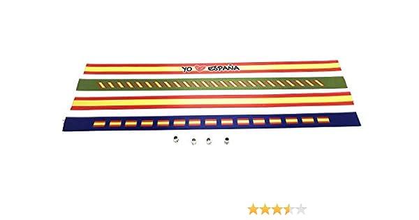 Pulseras de tela con la bandera ESPAÑOLA en pack de 4 unidades | Pulsera con la BANDERA DE ESPAÑA | Regalo original: Amazon.es: Hogar