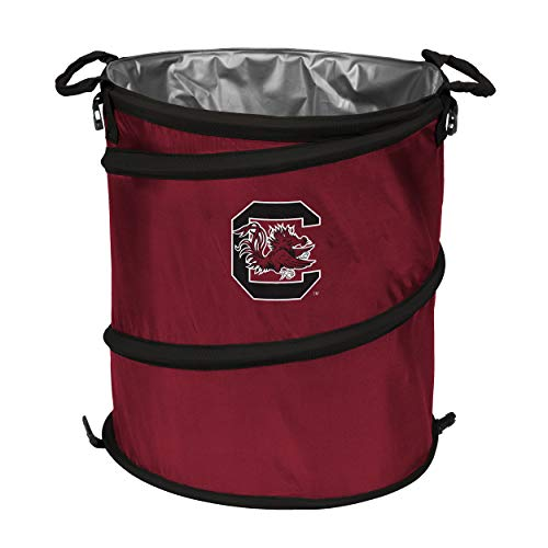 (NCAA South Carolina Fighting Gamecocks Adult Collapsible 3-in-1 Trash Can, Garnet )