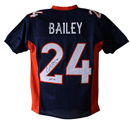 - Signed Champ Bailey Jersey - Blue XL HOF 23977 - JSA Certified - Autographed NFL Jerseys