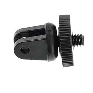 """ARBUYSHOP Gopro Adaptador del trípode de Monopod del montaje de 1/4 """"para GoPro héroe 3+ 4 3 2 1 Cámara Accesorios Negro L16"""