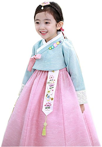 Korean Hanboks girls babys kids traditional hanbok dress costumes party birthday hg105 (3 ages) by hanbok store (Image #1)