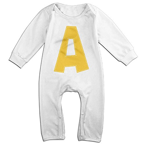 Alvin The For Infants Costumes Chipmunks And (KIDDOS Baby Infant Romper Unique A Logo Long Sleeve Jumpsuit Costume,White 18)