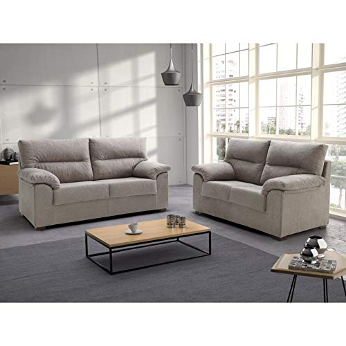 Tanuk Sofa DELLING 3+2 PLAZAS Beige Crudo: Amazon.es: Hogar