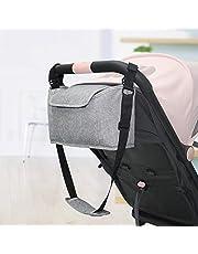 Kitabetty Barnvagnsorganisatör, multifunktionell justerbar barnvagnsväska skötväska förvaring hängande väska, universell stor kapacitet barnvagn organiserare pack för mamma och pappa