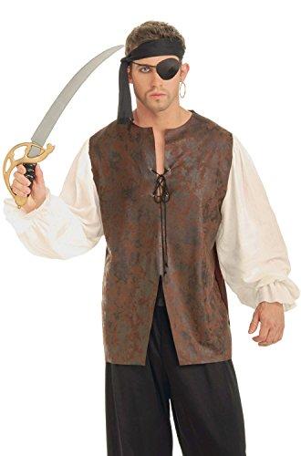Forum Novelties Men's Buccaneer Plus Shirt Costume Accessory, Multi, (Plus Pirate Costume)