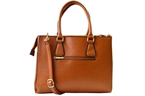 """gallantry-sac de mano para mujer tamaño mediano con lanière-pour Tablet 10"""" Camel/Beige"""