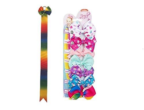 JoJo Siwa Kids Girls Hair Accessories Bundle 7 Days of the Week Mini Bow Set