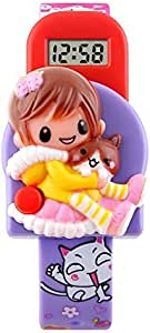 Girls Watches Kids Digital Watch Lovely Simple Barbie Doll Toy Toddler Wristwatch