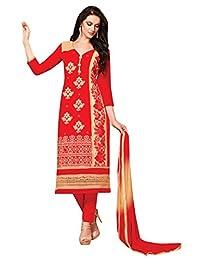 Women Ethnic Wear Traditional Unstitched Straight Dress Salwar Kameez