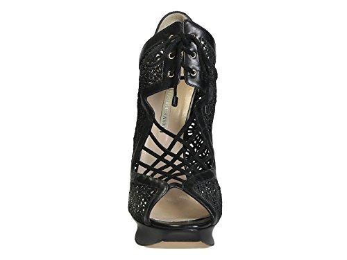 KIRKWOOD Noir NICHOLAS Cuir 12S0212N14BLACK Sandales Femme Rqxxdz
