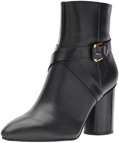 Nine West Women's cavanagh Ankle Boot, Black Leather, 8 M US