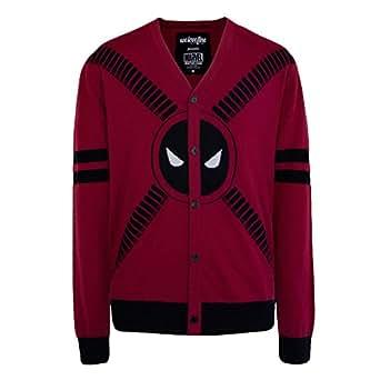 Deadpool Symbol and Straps Men's Cardigan- Medium
