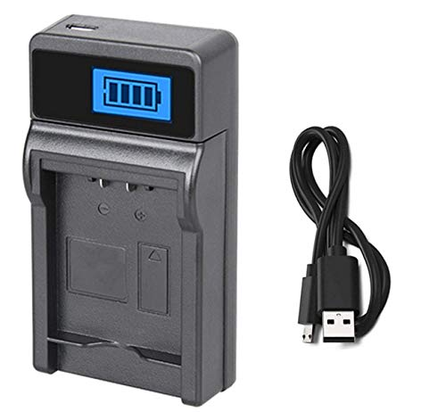 (LCD USB Battery Charger for Panasonic NV-GS30, NV-GS33, NV-GS35, NV-GS37 Camcorder)