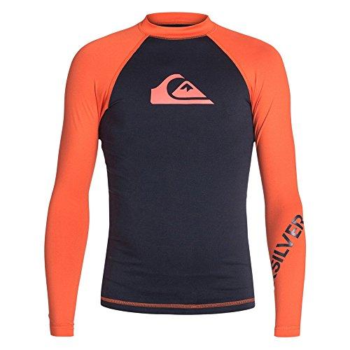 Quiksilver Boys All Time Long-Sleeve Rash Guard Suit, Navy Blazer/Mandarin, Sz. X-Small_8