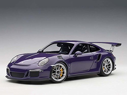 Porsche 911 (991) GT3 RS Ultra Violet with Silver Wheels 1/18 Model Car by Autoart 78169 - Autoart Diecast Models