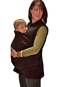 Peekaru Original Fleece Baby Carrier Cover Medium - Black