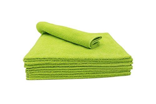 ZOLLNER® 10er Set Gästetücher / Gästehandtücher 30x50 cm apfelgrün, in weiteren Farben und Größen erhältlich, direkt vom Hotelwäschespezialisten, Serie