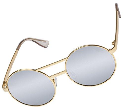 Le Specs Unisex Vertigo Brushed Gold/Silver Revo Mirror - Le Specs Mens Sunglasses