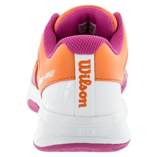 Wilson Wrs322500e050, Chaussures de Tennis Enfants Unisex, Multicolore (Multicolor / Nasturtium / White / Rose Violet), 38 1/3 EU