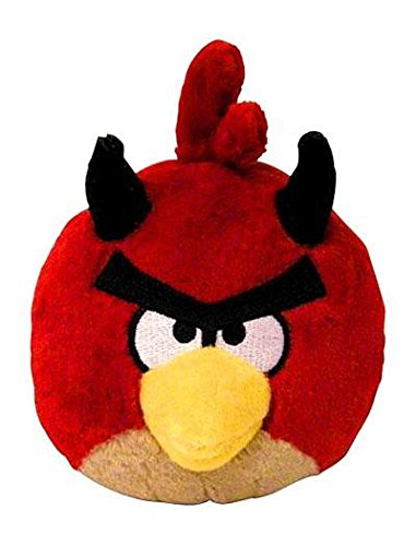 Angry Birds Seasons 5 inch Halloween Devil Red Bird No Sound Plush -
