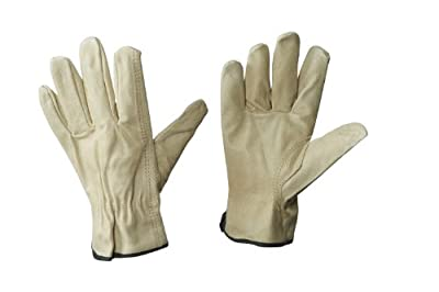 Aviditi GLV1061L Pigskin Leather Drivers Gloves, Large, Tan (Case of 6)