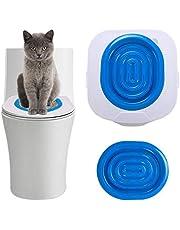FIFIPETS Cat Toilet Training Kit, Plastic Sand Box Mat Cat Trainer Cat Toilet Cleaning Hygienic Pet Supply