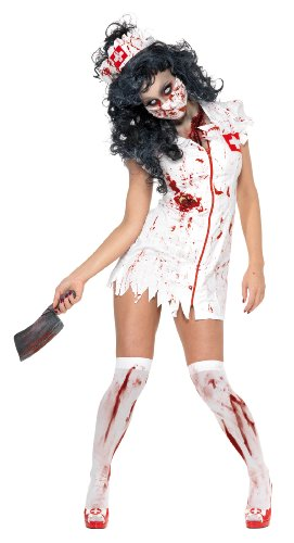 Zombie Nurse Fancy Dress Costume Ladies (Nurse Halloween Fancy Dress)