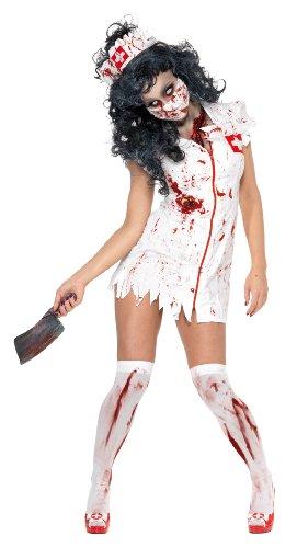 Zombie Nurse Fancy Dress Costume Ladies (Nurse Halloween Fancy Dress)