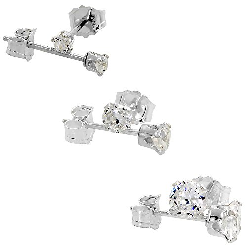 Zirconia Earrings Cartilage Sterling Silver