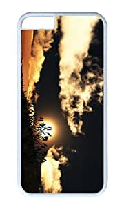 MOKSHOP Adorable hill grass sunset Hard Case Protective Shell Cell Phone Cover For Apple Iphone 6 Plus (5.5 Inch) - PC White