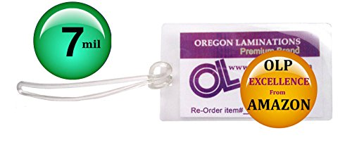 Qty 500 of Each, 7 Mil Luggage Tags Laminating Pouches & 6-i