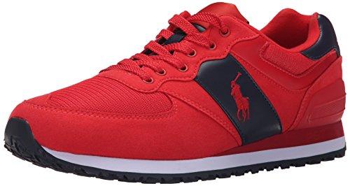 Polo Ralph Lauren Men's SLATON Shoe, RL Red/Nacy, 10.5 D US (Mens Red Sneakers)
