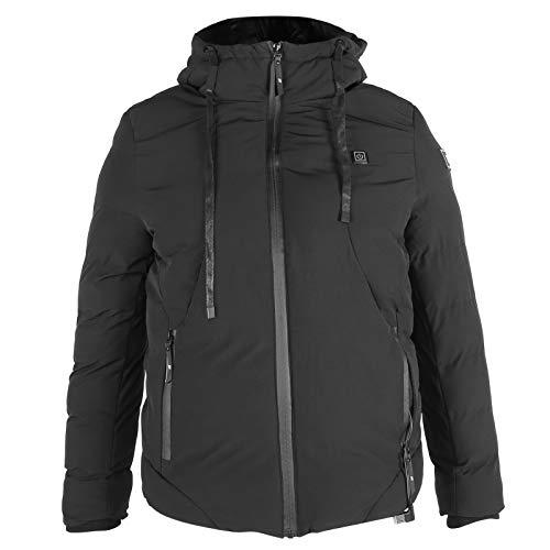 Heated Jacket, USB Electric Soft Waterproof Heating Jacket, Warm Clothes Coat, Washable Adjustable Heated Jackets for Winter(XXXL)