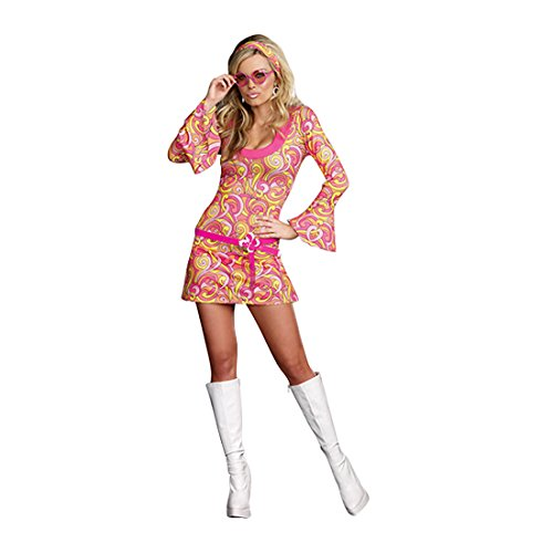 Girls Hippie Girl Costumes (Dreamgirl Women's Go Go Gorgeous Costume, Multi, Medium)